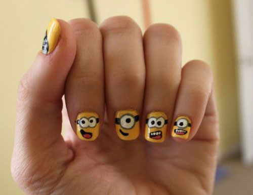 25-Awesome-Minion-Nail-Art-Designs-Ideas-Trends- - 25+ Awesome Minion Nail Art Designs, Ideas, Trends & Stickers 2015