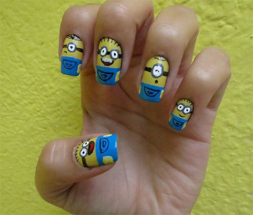 25-Awesome-Minion-Nail-Art-Designs-Ideas-Trends-Stickers-2015-14