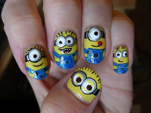 25-Awesome-Minion-Nail-Art-Designs-Ideas-Trends-Stickers-2015-15