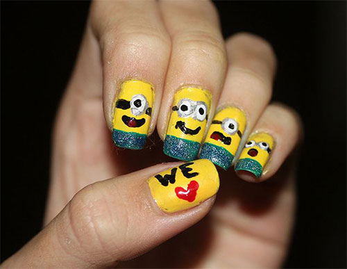 25-Awesome-Minion-Nail-Art-Designs-Ideas-Trends-Stickers-2015-16