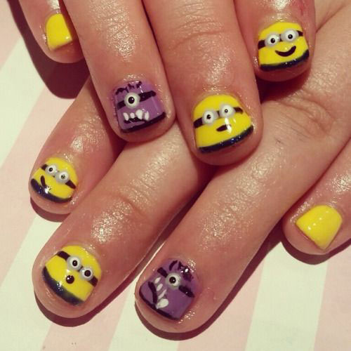 25-Awesome-Minion-Nail-Art-Designs-Ideas-Trends-Stickers-2015-2