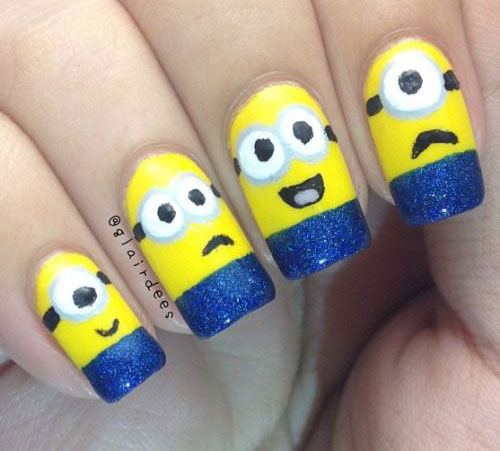 25-Awesome-Minion-Nail-Art-Designs-Ideas-Trends-Stickers-2015-20