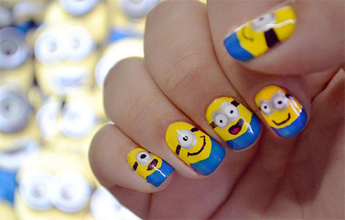 25-Awesome-Minion-Nail-Art-Designs-Ideas-Trends-Stickers-2015-21