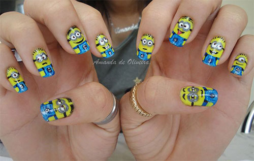 25-Awesome-Minion-Nail-Art-Designs-Ideas-Trends-Stickers-2015-22