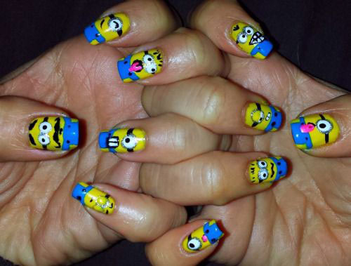 25-Awesome-Minion-Nail-Art-Designs-Ideas-Trends-Stickers-2015-23