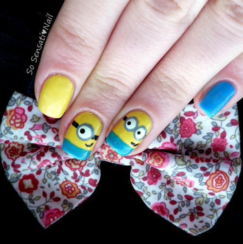 25-Awesome-Minion-Nail-Art-Designs-Ideas-Trends-Stickers-2015-25