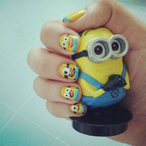 25-Awesome-Minion-Nail-Art-Designs-Ideas-Trends-Stickers-2015-26