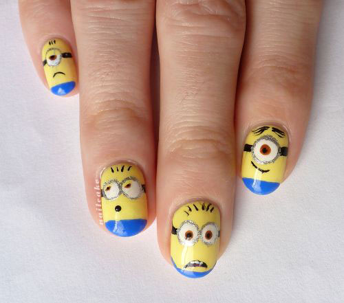 25-Awesome-Minion-Nail-Art-Designs-Ideas-Trends-Stickers-2015-3