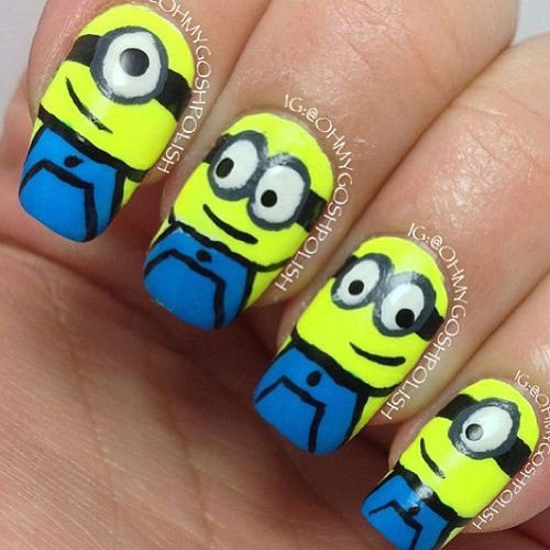 25-Awesome-Minion-Nail-Art-Designs-Ideas-Trends-Stickers-2015-4