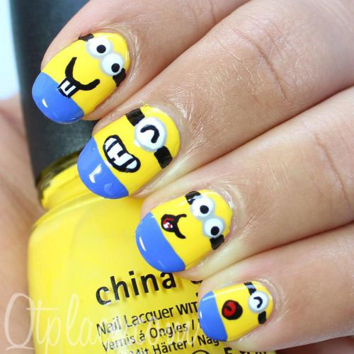 25-Awesome-Minion-Nail-Art-Designs-Ideas-Trends-Stickers-2015-5