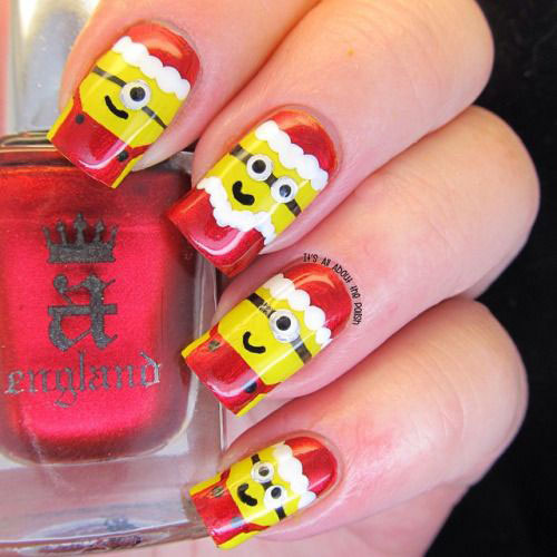 25-Awesome-Minion-Nail-Art-Designs-Ideas-Trends-Stickers-2015-6
