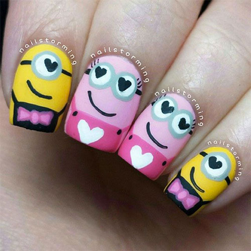 25-Awesome-Minion-Nail-Art-Designs-Ideas-Trends-Stickers-2015-7