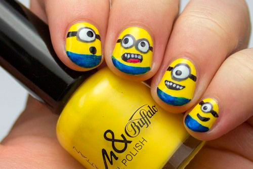 25-Awesome-Minion-Nail-Art-Designs-Ideas-Trends-Stickers-2015-8
