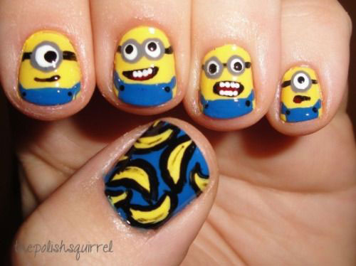 25-Awesome-Minion-Nail-Art-Designs-Ideas-Trends-Stickers-2015-9