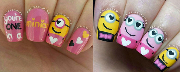 25-Awesome-Minion-Nail-Art-Designs-Ideas-Trends-Stickers-2015