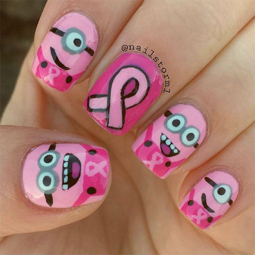 Cute-Pink-Minion-Nail-Art-Designs-Ideas-Trends-Stickers-2015-3