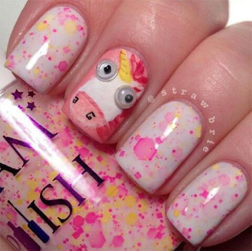 Cute-Pink-Minion-Nail-Art-Designs-Ideas-Trends-Stickers-2015-4