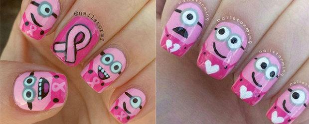Cute-Pink-Minion-Nail-Art-Designs-Ideas-Trends-Stickers-2015