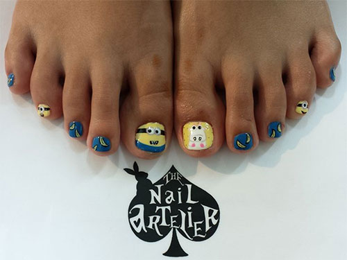 Minion-Toe-Nail-Art-Designs-Ideas-Trends-Stickers-2015-1