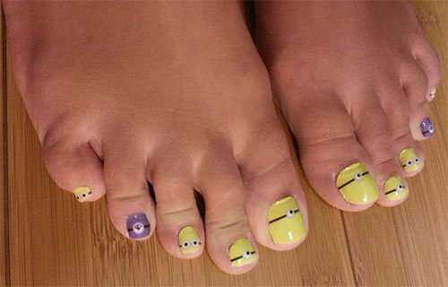 Minion-Toe-Nail-Art-Designs-Ideas-Trends-Stickers-2015-3