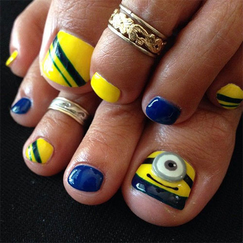 minion toe nail art designs  ideas  trends  u0026 stickers 2015
