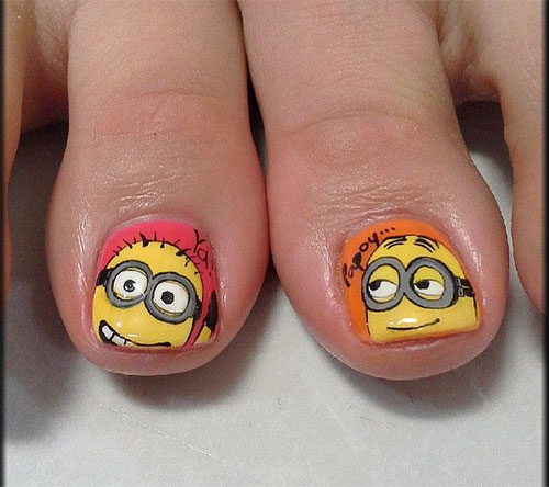 Minion-Toe-Nail-Art-Designs-Ideas-Trends-Stickers-2015-5