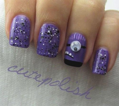 Purple-Evil-Minion-Nail-Art-Designs-Ideas-Trends-Stickers-2015-3