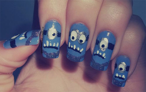Purple-Evil-Minion-Nail-Art-Designs-Ideas-Trends-Stickers-2015-4