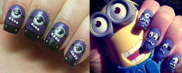 Purple-Evil-Minion-Nail-Art-Designs-Ideas-Trends-Stickers-2015