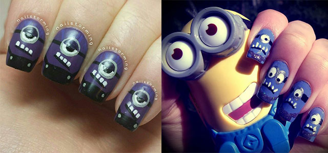 Purple-Evil-Minion-Nail-Art-Designs-Ideas-Trends-Stickers-2015