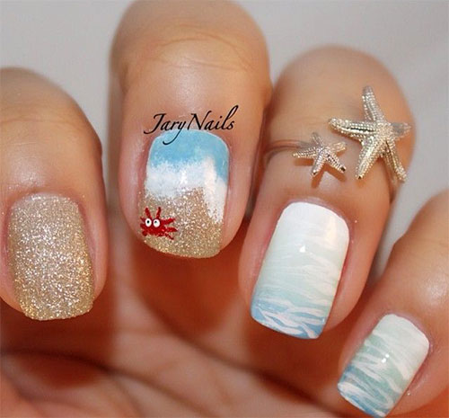 18-Beach-Nail-Art-Designs-Ideas-Trends-Stickers-2015-Summer-Nails-15