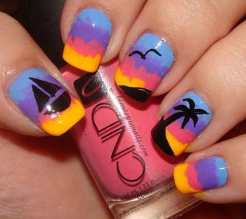 18-Beach-Nail-Art-Designs-Ideas-Trends-Stickers-2015-Summer-Nails-4