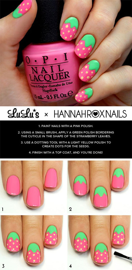 18 Easy Step By Step Summer Nail Art Tutorials For Beginners ...