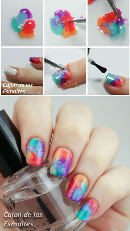 18-Easy-Step-By-Step-Summer-Nail-Art- - 18 Easy Step By Step Summer Nail Art Tutorials For Beginners