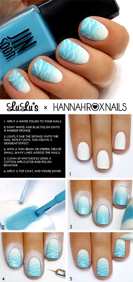 18 Easy Step By Step Summer Nail Art Tutorials For Beginners Amp Learners 2015 Fabulous Nail Art