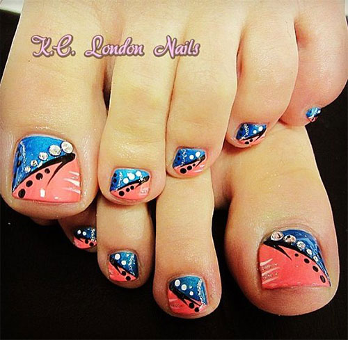 18+ Summer Toe Nail Art Designs, Ideas, Trends & Stickers
