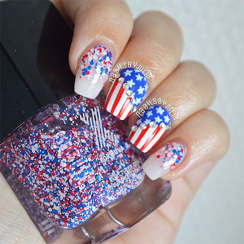 12-American-Flag-Nail-Art-Designs-Ideas-Trends- - 12+ American Flag Nail Art Designs, Ideas, Trends & Stickers 2015