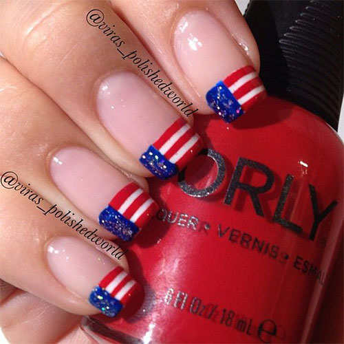 12 American Flag Nail Art Designs Ideas Trends Stickers 2015