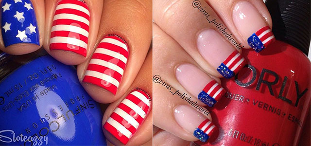 12+ American Flag Nail Art Designs, Ideas, Trends & Stickers 2015 | 4th Of  July Nails | Fabulous Nail Art Designs - 12+ American Flag Nail Art Designs, Ideas, Trends & Stickers 2015