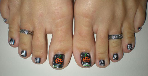 10-Halloween-Toe-Nail-Art-Designs-Ideas-Trends- - 10+ Halloween Toe Nail Art Designs, Ideas, Trends & Stickers 2015