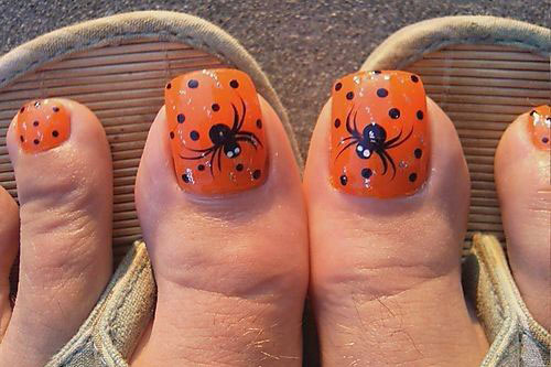 10 Halloween Toe Nail Art Designs Ideas Trends