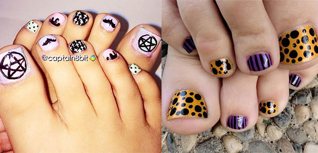 Halloween Toe Nail Designs Pictures Papillon Day Spa