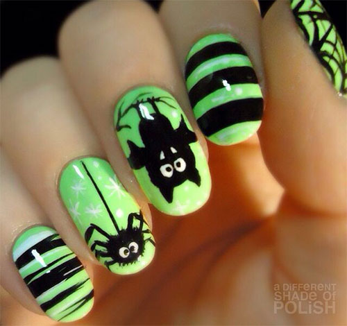 12-Halloween-Bat-Nail-Art-Designs-Ideas-Stickers- - 12+ Halloween Bat Nail Art Designs, Ideas & Stickers 2015