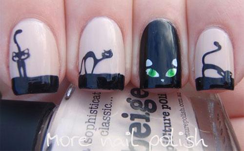 15-Cute-Halloween-Themed-Cat-Nail-Art-Designs-Ideas-Trends-Stickers-2015-13