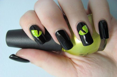15-Cute-Halloween-Themed-Cat-Nail-Art-Designs-Ideas-Trends-Stickers-2015-15