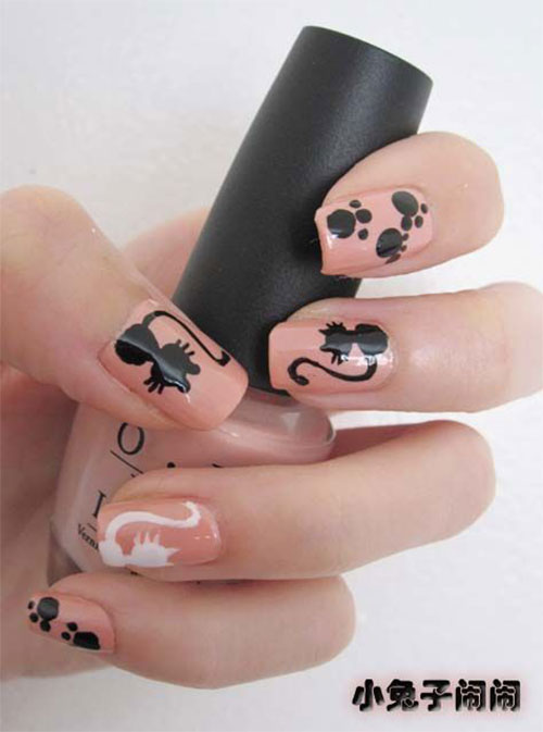 15-Cute-Halloween-Themed-Cat-Nail-Art-Designs-Ideas-Trends-Stickers-2015-16