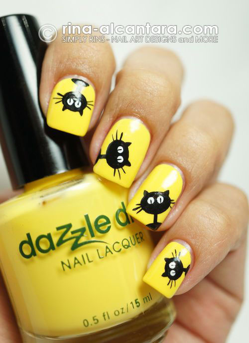 15-Cute-Halloween-Themed-Cat-Nail-Art-Designs-Ideas-Trends-Stickers-2015-17