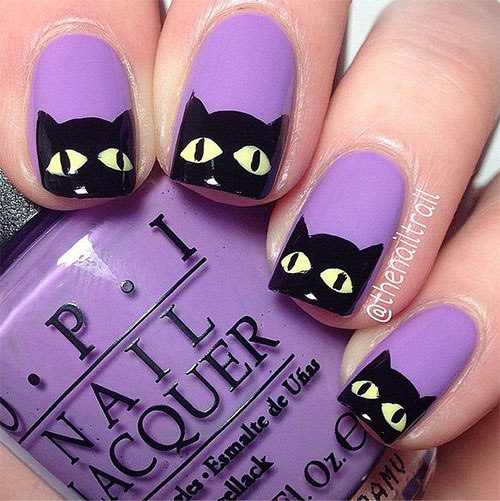 15-Cute-Halloween-Themed-Cat-Nail-Art-Designs-Ideas-Trends-Stickers-2015-2