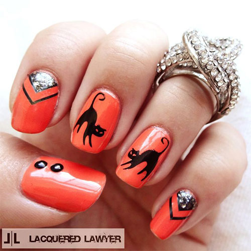 15-Cute-Halloween-Themed-Cat-Nail-Art-Designs-Ideas-Trends-Stickers-2015-3
