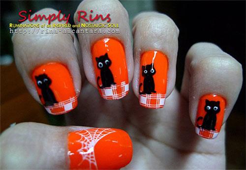 15-Cute-Halloween-Themed-Cat-Nail-Art-Designs-Ideas-Trends-Stickers-2015-4